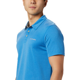 Columbia Nelson Point Polo Uomo, azure blue